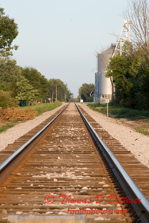 NS rail crossing US 150 west of Congerville Illinois - 3