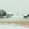 1 - Farm buildings in McLean County on a snowy day - Northern McLean County Illinois - Monday December 1st 2008
