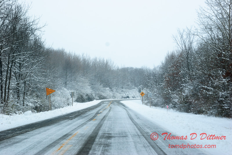 22 - Wooded areas surrounding Lake Evergreen on a snowy day - Northern McLean County Illinois - Monday December 1st 2008