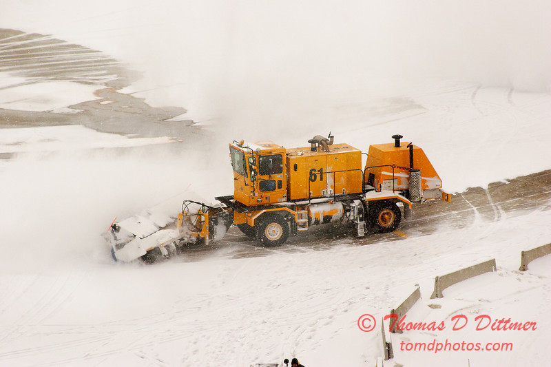 51 - Snow removal from the commercial ramp - Greater Peoria Regional Airport - Peoria Illinois - Sunday January 25th 2009