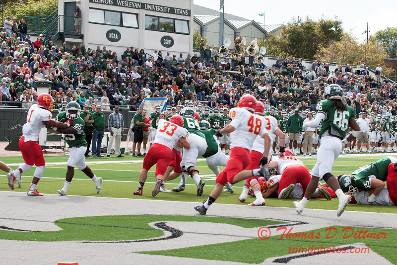 575 - NCAA Div III Football - Simpson College at Illinois Wesleyan University - Tucci Stadium - Bloomington Illinois