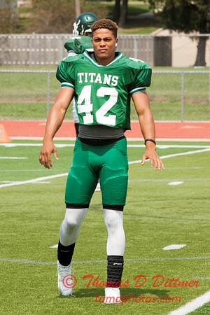 1 - Watermelon Scrimmage - Illinois Wesleyan University Fighting Titans Football - Tucci Stadium - Bloomington Illinois