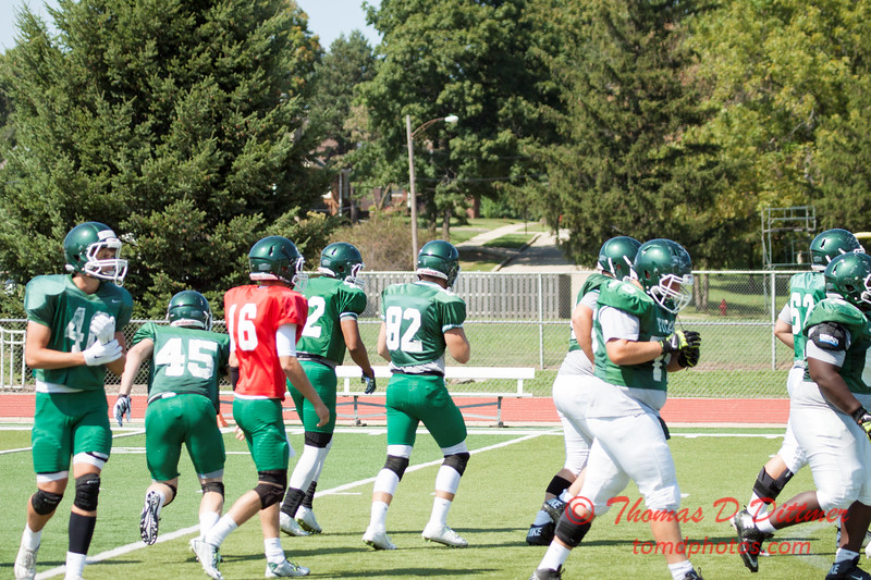 186 - Watermelon Scrimmage - Illinois Wesleyan University Fighting Titans Football - Tucci Stadium - Bloomington Illinois