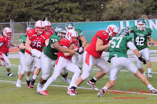 1 - 2015 NCAA Div III JV Football - Monmouth College at Illinois Wesleyan University - Tucci Stadium - Bloomington Illinois