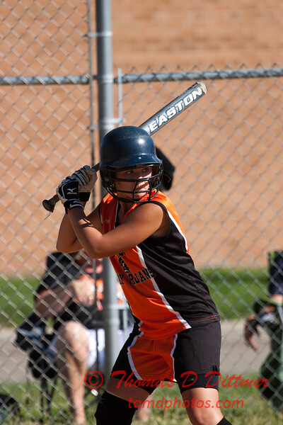 2010 -  IESA - Softball - Parkside Junior High School Lady Pythons at Lincoln Junior High School Lady Trojans - Lincoln Illinois - Thursday August 26th - 115