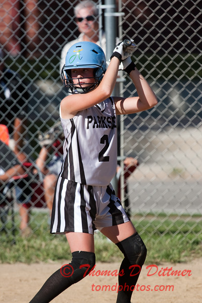2010 -  IESA - Softball - Parkside Junior High School Lady Pythons at Lincoln Junior High School Lady Trojans - Lincoln Illinois - Thursday August 26th - 136