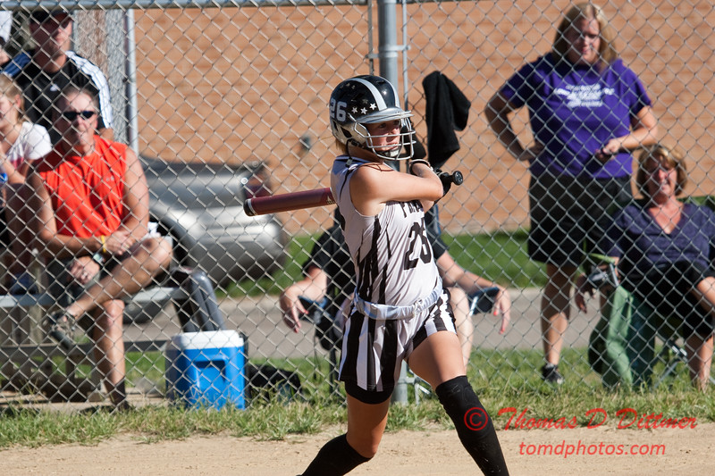 2010 -  IESA - Softball - Parkside Junior High School Lady Pythons at Lincoln Junior High School Lady Trojans - Lincoln Illinois - Thursday August 26th - 99