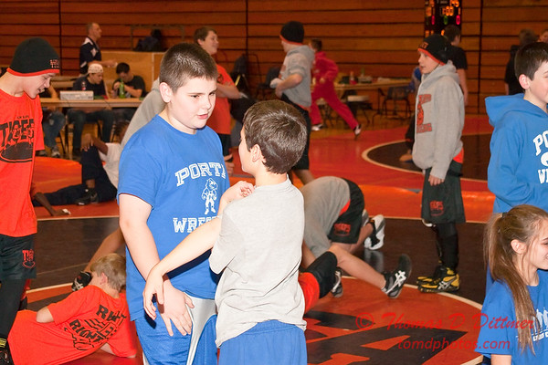 2012 - 1- 7 -  IESA Wrestling - Olympia Invitational - Olympia High School - Stanford Illinois - 1
