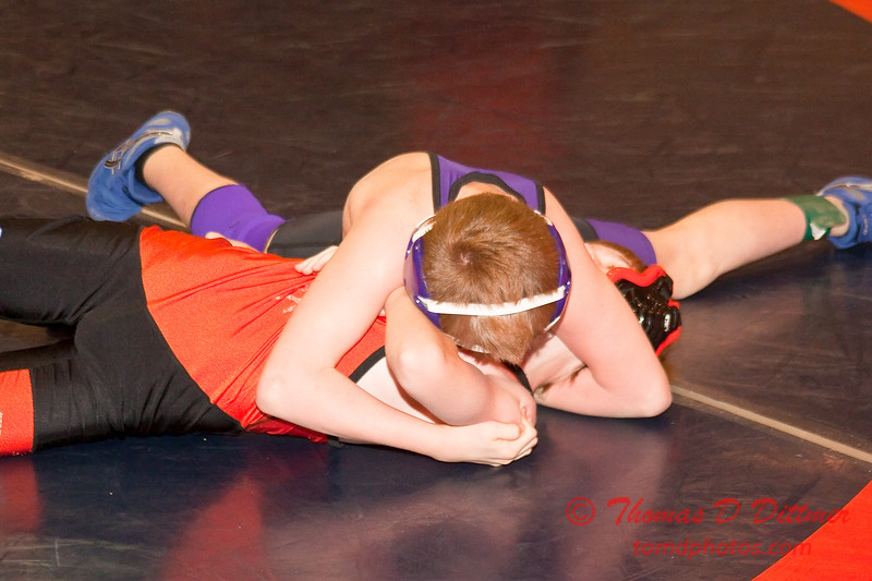 2012 - 1- 7 -  IESA Wrestling - Olympia Invitational - Olympia High School - Stanford Illinois - 99