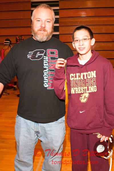 2012 - 1- 7 -  IESA Wrestling - Olympia Invitational - Olympia High School - Stanford Illinois - 988
