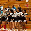46 - The Decatur Eisenhower Cheerleaders between the jv and varsity Normal Community Ironmen vs Decatur Eisenhower Panthers Basketball game at Stephen Decatur Middle School