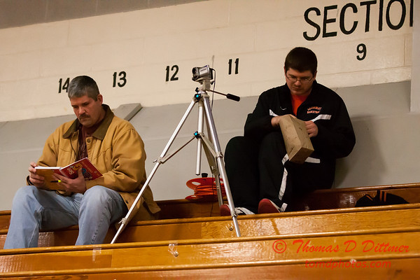 1 - Video crew waiting for the Normal Community Ironmen vs Decatur Eisenhower Panthers Junior Varsity Basketball game at Stephen Decatur Middle School