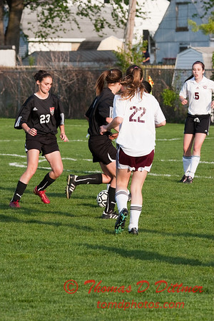 2010 - IHSA Junior Varsity Soccer - Girls - Normal Community Ironmen at Champaigh Central Maroons - Champaign Illinois - April 20th - 1