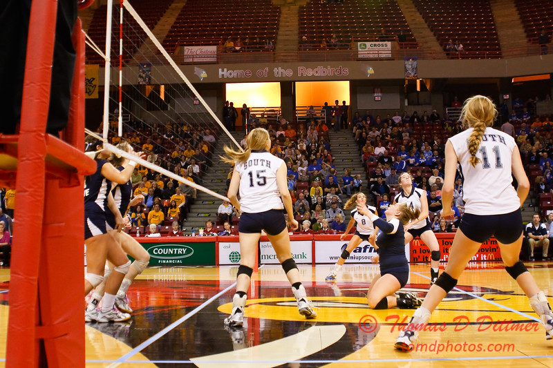 IHSA Girls Volleyball - Class 4A State Semi Finals - Cary Grove vs Glenbrook South - 200