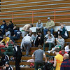 11 - High school wrestlers and fans in the bleachers prior to the 33rd Annual Marty Williams Bulldog Wrestling Invitational at Mahomet Seymour High School in Mahomet Illinois
