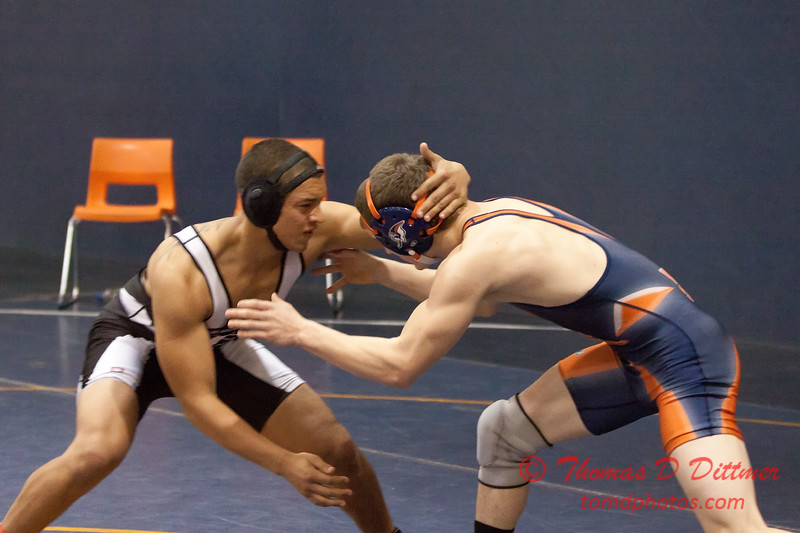 745 - Wrestling action at the 33rd Annual Marty Williams Bulldog Wrestling Invitational at Mahomet Seymour High School in Mahomet Illinois