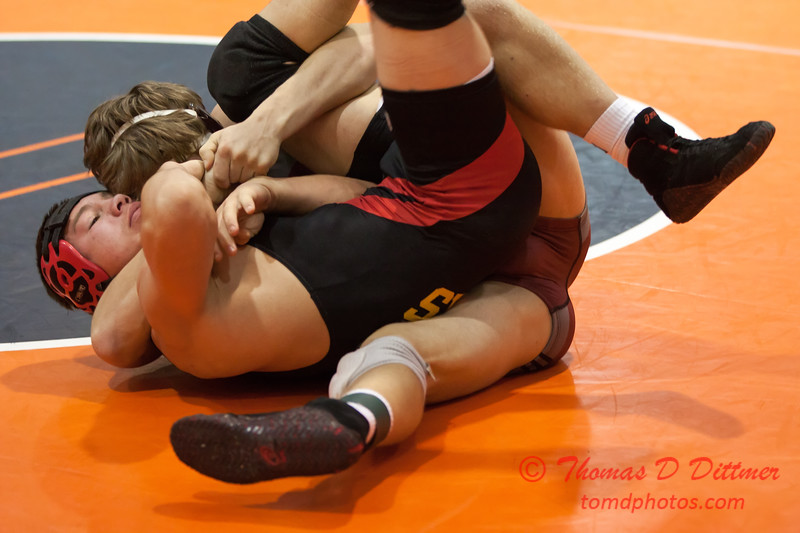 711 - Wrestling action at the 33rd Annual Marty Williams Bulldog Wrestling Invitational at Mahomet Seymour High School in Mahomet Illinois