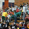 6 - High school wrestlers in bleachers prior to the 33rd Annual Marty Williams Bulldog Wrestling Invitational at Mahomet Seymour High School in Mahomet Illinois