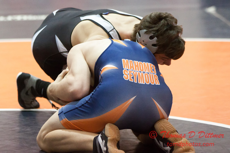 288 - Wrestling action at the 33rd Annual Marty Williams Bulldog Wrestling Invitational at Mahomet Seymour High School in Mahomet Illinois