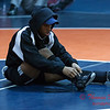 8 - A lone high school wrestler prior to the 33rd Annual Marty Williams Bulldog Wrestling Invitational at Mahomet Seymour High School in Mahomet Illinois