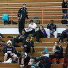 10 - High school wrestlers and fans in the bleachers prior to the 33rd Annual Marty Williams Bulldog Wrestling Invitational at Mahomet Seymour High School in Mahomet Illinois