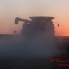 2010 - Combine harvesting soybeans at sunset - 48