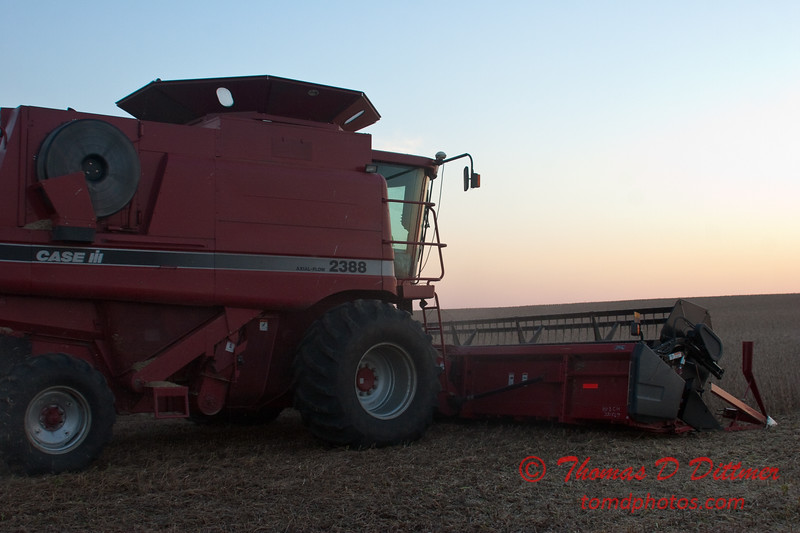 2010 - Combine harvesting soybeans at sunset - 43