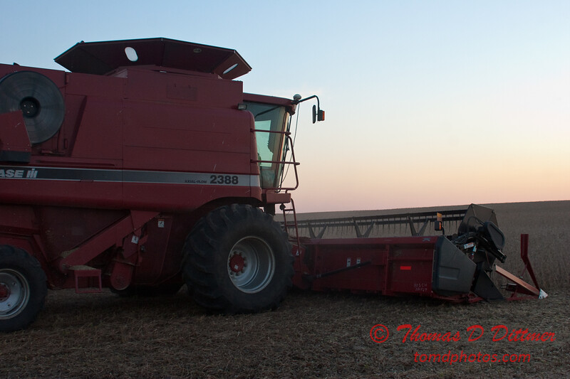 2010 - Combine harvesting soybeans at sunset - 41