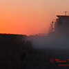 2010 - Combine harvesting soybeans at sunset - 55