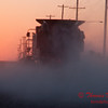 2010 - Combine harvesting soybeans at sunset - 50