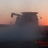 2010 - Combine harvesting soybeans at sunset - 49