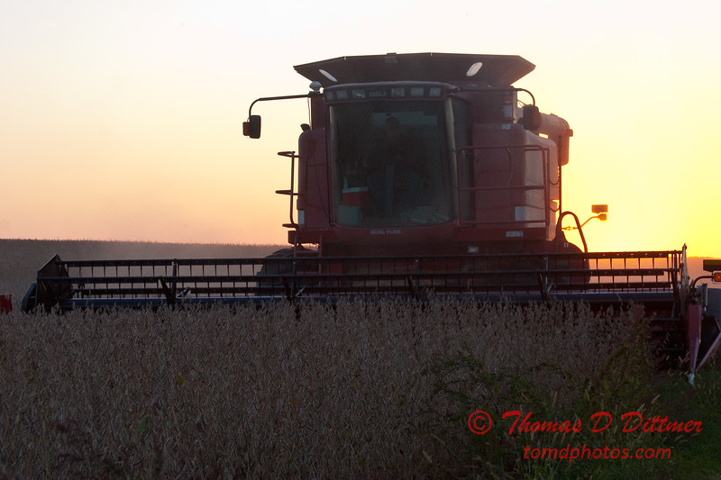 2010 - Combine harvesting soybeans at sunset - 20