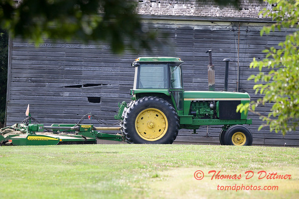 Breaktime for a tractor and mower