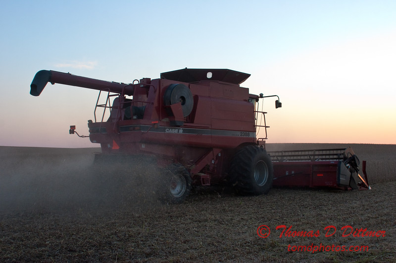 2010 - Combine harvesting soybeans at sunset - 45