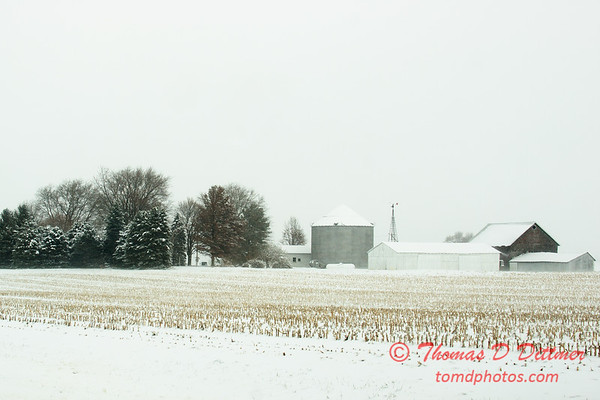 2 - Farm buildings in McLean County on a snowy day - Northern McLean County Illinois - Monday December 1st 2008