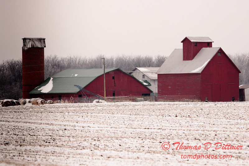 Farm Buildings seen from US Highway 51 northwest of Clinton