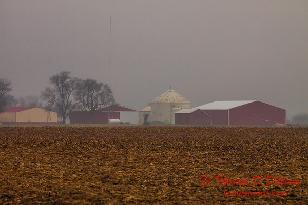 # 16 - Farm buildings in Central Illinois on a late afternoon