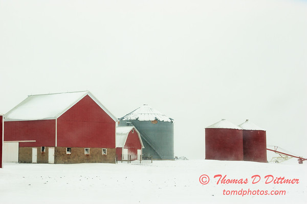 7 - Farm buildings in McLean County on a snowy day - Northern McLean County Illinois - Monday December 1st 2008