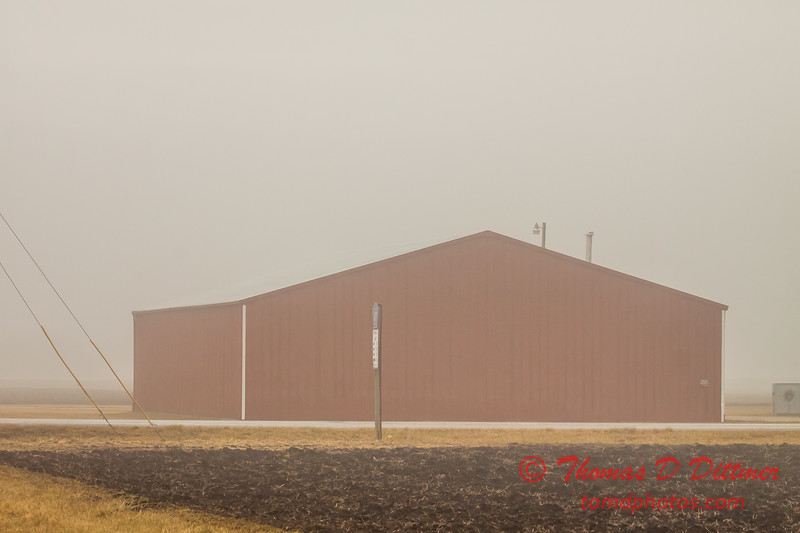 # 6 - Farm building in Central Illinois on a foggy afternoon