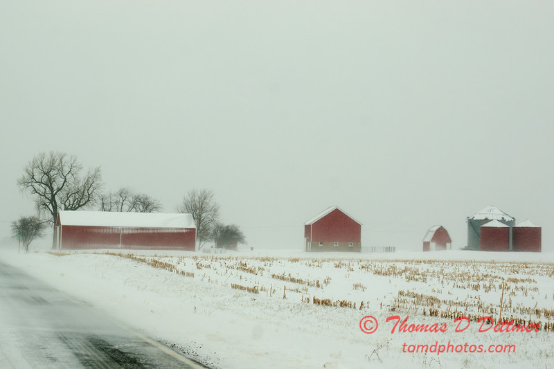 4 - Farm buildings in McLean County on a snowy day - Northern McLean County Illinois - Monday December 1st 2008