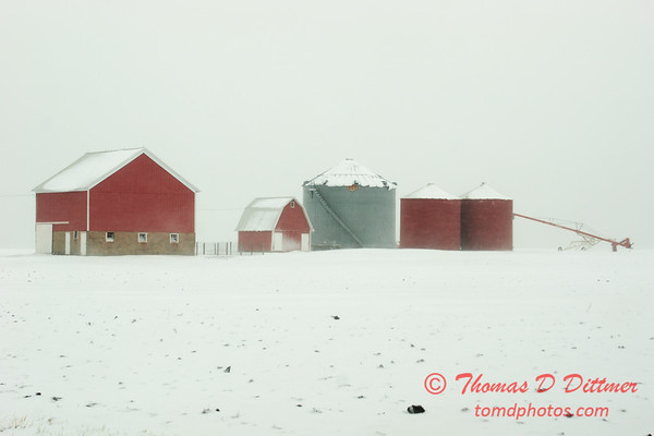 6 - Farm buildings in McLean County on a snowy day - Northern McLean County Illinois - Monday December 1st 2008