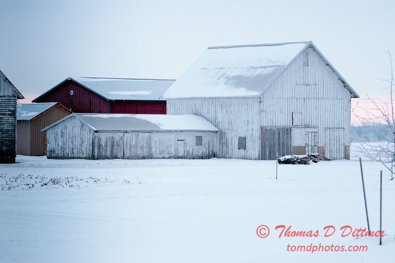 Farm buildings seen from historic Route 66