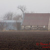 # 9 - Farm buildings in Central Illinois on a foggy afternoon