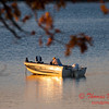 2 - A fisherman takes advantage of good weather in late October on Lake Evergreen - Hudson Illinois - Sunday October 29 2006