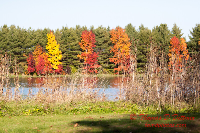 18 - 2014 Autumn colors on display at Evergreen Lake - Hudson Illinois