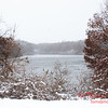 4 - Wooded areas surrounding Lake Evergreen on a snowy day - Northern McLean County Illinois - Monday December 1st 2008