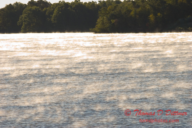Early morning mist over Lake Evergreen Hudson Illinois 17