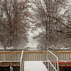 # 22 - Snow falling at Evergreen Lake Hudson Illinois