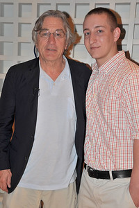 Chris with Robert De Niro