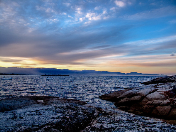 Bicheno, Tasmania at sunset